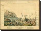 Comparative View of the Heights of the Principal Mountains in the World, c.1816 Stretched Canvas Print by Charles Smith