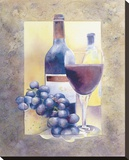Smooth Red Wine Stretched Canvas Print by Nancy Cheng