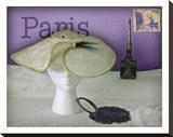 Paris Hat Stretched Canvas Print by Judy Mandolf