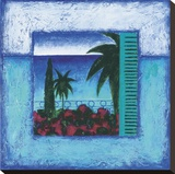 Francoise Persillon - View Of Nice ll Reprodukce na plátně