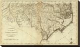 State of North Carolina, c.1796 Stretched Canvas Print by John Reid