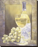 Grapes And Chenin Blanc Stretched Canvas Print by Nancy Cheng
