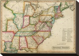 United States, c.1820 Stretched Canvas Print by John Melish