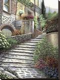 Steps At Castiglione Stretched Canvas Print by Joe Sambataro