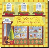 La Patisserie Stretched Canvas Print by Jennifer Brinley