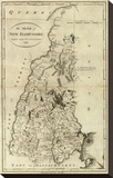 State of New Hampshire, c.1796 Stretched Canvas Print by John Reid