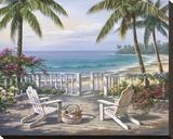 Coastal View Impressão em tela esticada por Sung Kim