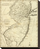 State of New Jersey, c.1796 Stretched Canvas Print by John Reid