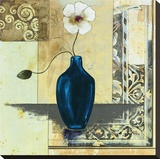 Blue Vase I Stretched Canvas Print by Susan Osborne