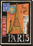 Metro, Paris Stretched Canvas Print by Katharine Gracey