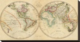 Map of the World, c.1820 Stretched Canvas Print by John Melish