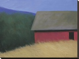 The LaCross Barn Stretched Canvas Print by Karen Jones
