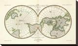 Karte Der Magnetischen Meridiane und Parallel-Kreise, c.1840 Stretched Canvas Print by Heinrich Berghaus
