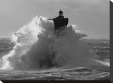 Phare du Four lors d'une tempete Reproduccin en lienzo de la lmina por Jean Guichard