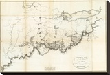 General Map of the Course of the Ohio, c.1796 Stretched Canvas Print by George Henri Victor Collot