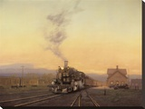 Arrival Of The 472 Stretched Canvas Print by Raymond Knaub