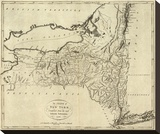 State of New York, c.1796 Stretched Canvas Print by John Reid