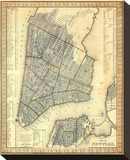 City of New York, c.1846 Stretched Canvas Print by Samuel Augustus Mitchell