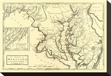 State of Maryland, c.1795 Stretched Canvas Print by Mathew Carey