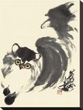 Chevaux aux galop Reproduction transférée sur toile par Wu Yanpei