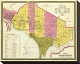 City of Washington, D.C., c.1846 Stretched Canvas Print by Samuel Augustus Mitchell