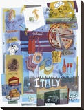 Italian food Stretched Canvas Print
