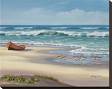 Sandpiper March II Reproducción en lienzo de la lámina por Sung Kim