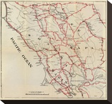 California: Sonoma, Marin, Lake, and Napa Counties, c.1896 Stretched Canvas Print by George W. Blum
