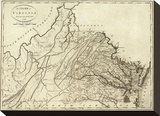 State of Virginia, c.1796 Stretched Canvas Print by John Reid
