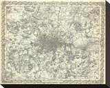 The Environs of London, c.1856 Stretched Canvas Print by G. W. Colton