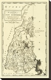 State of New Hampshire, c.1795 Stretched Canvas Print by Mathew Carey