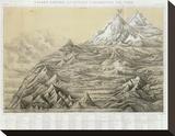 Cuadro General de Alturas Comparativas del Peru, c.1865 Stretched Canvas Print by Mariano Felipe Paz Soldan
