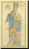 New York, Washington County, c.1829 Stretched Canvas Print by David H. Burr