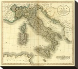 Italy, c.1799 Stretched Canvas Print by John Cary