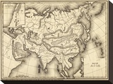 Map of Asia, c.1839 Stretched Canvas Print by Samuel Augustus Mitchell