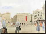 Urbana Stretched Canvas Print by Erik Scheller