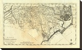State of North Carolina, c.1795 Stretched Canvas Print by Mathew Carey