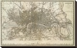 London, England, c.1845 Stretched Canvas Print