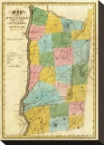 New York: Dutchess, Putnam Counties, c.1829 Stretched Canvas Print by David H. Burr