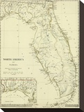Florida, c.1834 Stretched Canvas Print