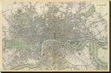 London, England, c.1843 Stretched Canvas Print