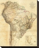 South America, c.1814 Stretched Canvas Print by Aaron Arrowsmith