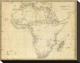 Africa, c.1839 Stretched Canvas Print