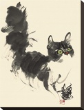 Looking out for something Reproduction transférée sur toile par Wu Yanpei