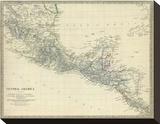 Central America, Southern Mexico, c.1842 Impressão em tela esticada