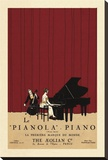 Le Pianola Stretched Canvas Print by Susan W. Berman