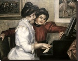 Lerolle Girls at the Piano Leinwand von Pierre-Auguste Renoir