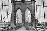 Pedestrian Walkway on the Brooklyn Bridge Prints by  Bettmann