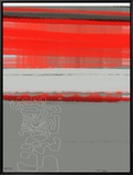 Abstract Red 1 Framed Canvas Print by  NaxArt