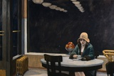 Automat Posters by Edward Hopper